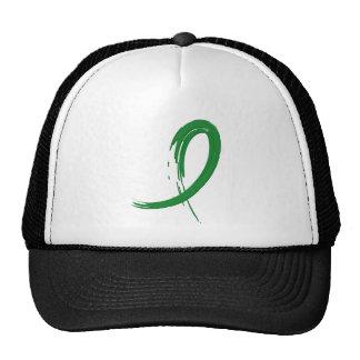 La cinta verde A4 de la parálisis cerebral Gorros Bordados