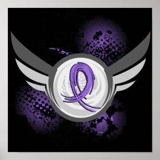 La cinta violeta se va volando el linfoma de Hodgk Poster