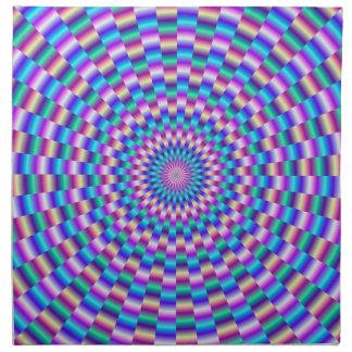 La circular azul y rosada liga servilletas