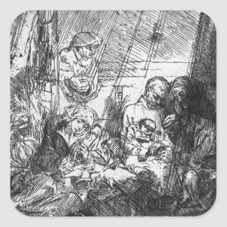 La circuncisión, 1654 pegatina cuadrada