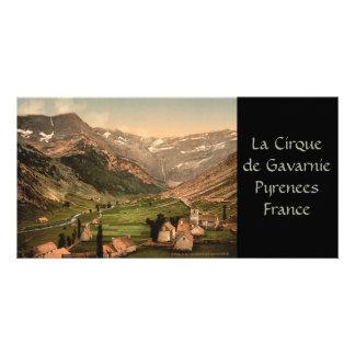 La Cirque de Gavarnie, Pyrenees, France Photo Card Template