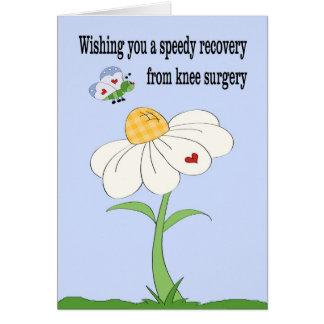 La cirugía de la rodilla consigue la tarjeta bien