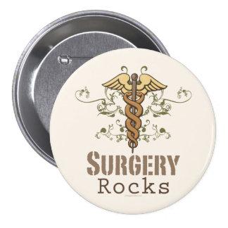 La cirugía oscila el botón del cirujano pin