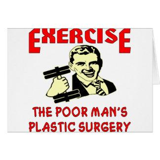 La cirugía plástica del pobre hombre del ejercicio felicitacion