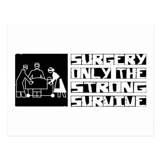 La cirugía sobrevive tarjetas postales