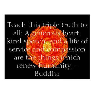 La cita de Buda inspira de motivación Tarjetas Postales