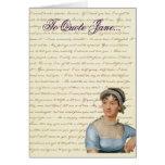 La cita de Jane Austen escribe su propia tarjeta d