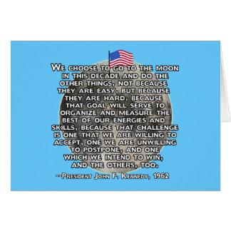 La cita de JFK que envió a seres humanos a la luna Tarjeta De Felicitación