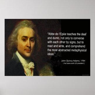 La cita de John Quincy Adams de los trabajos de Póster