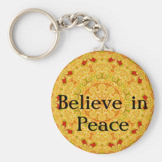 La cita de la sabiduría de Buda inspirada motiva Llavero Redondo Tipo Pin
