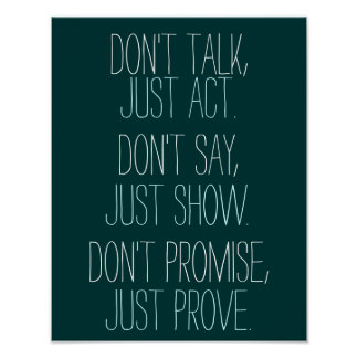 La cita de motivación apenas prueba póster