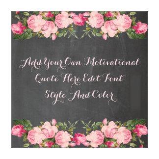 La cita de motivación de encargo, añade su texto lienzo envuelto para galerías