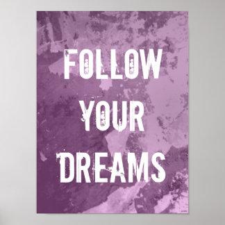 La cita de motivación el | del poster sigue sus su