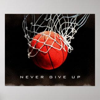 La cita de motivación nunca da para arriba el póster