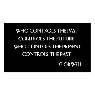 La cita de Orwell Tarjetas De Visita