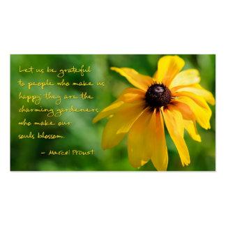 La cita de Proust le agradece tarjeta de visita