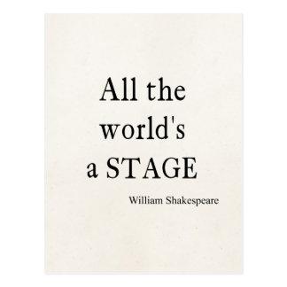 La cita de Shakespeare todo el mundo es citas de Tarjetas Postales