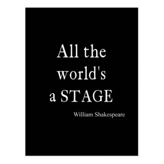 La cita de Shakespeare todo el mundo es citas de Tarjeta Postal