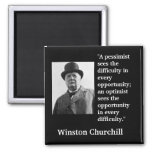 """La cita de Winston Churchill """"un pesimista Imán Cuadrado"""