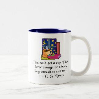 La cita del té y de los libros w Dos-entonó la taz Tazas