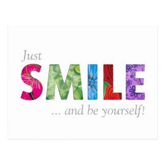 La cita feliz 02 de la sonrisa - sea usted mismo postales