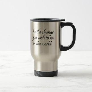 La cita inspirada de Gandhi asalta los regalos del Taza De Viaje De Acero Inoxidable