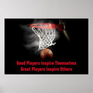 La cita inspirada del baloncesto inspira a póster