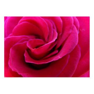 La cita nupcial carda las flores color de rosa ros tarjetas de negocios