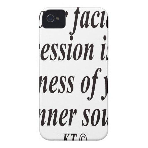 La cita para su expresión facial es la semejanza iPhone 4 fundas