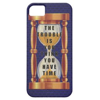 La cita sobre tiempo con reloj de arena iPhone 5 Case-Mate protectores