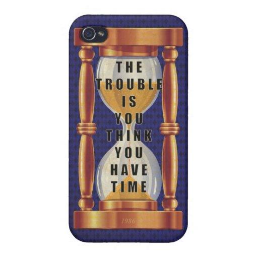 La cita sobre tiempo con reloj de arena iPhone 4/4S fundas
