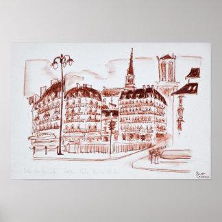 La Cite and Notre Dame de Paris | Paris, France Poster
