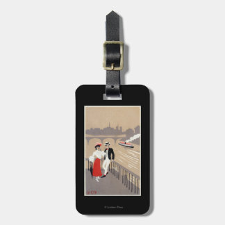 La Cite Art Deco Scene Bag Tag