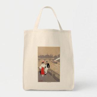 La Cite Art Deco Scene Grocery Tote Bag