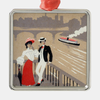 La Cite Art Deco Scene Metal Ornament