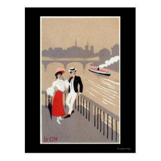 La Cite Art Deco Scene Postcard