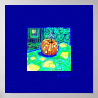 La-citrouille-lumineuse, evoluc - Customized Poster
