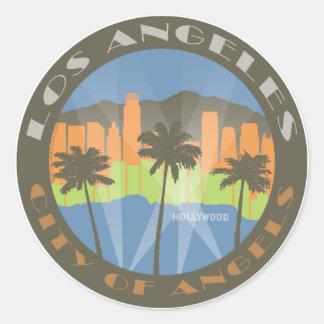 LA City of Angels Beachy Classic Round Sticker