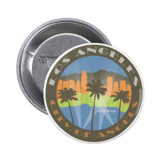 LA City of Angels Beachy Pinback Button