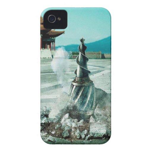 La ciudad abstracta llega China iPhone 4 Case-Mate Cárcasas