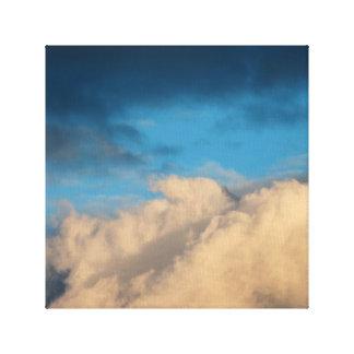 La ciudad adoptiva se nubla la lona 1 lienzo envuelto para galerías