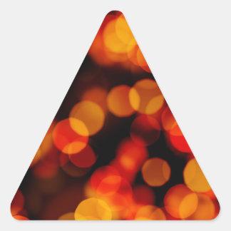 La ciudad anaranjada enciende reflexiones calcomanías trianguladas personalizadas