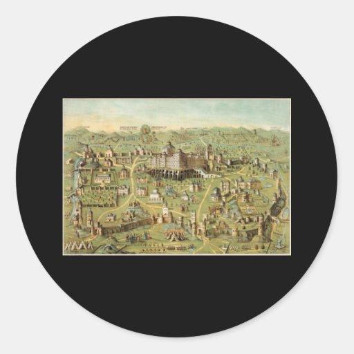 La ciudad antigua de Jerusalén Pegatina Redonda