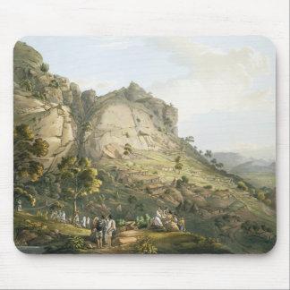 La ciudad de Abha en Abyssinia, grabada por J. Blu Alfombrillas De Ratón