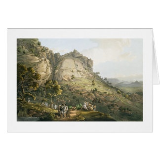 La ciudad de Abha en Abyssinia, grabada por J. Blu Tarjeta De Felicitación