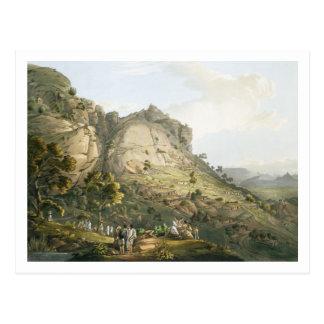 La ciudad de Abha en Abyssinia, grabada por J. Postales