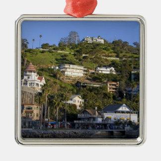 La ciudad de Avalon en la isla de Catalina, Adorno Navideño Cuadrado De Metal