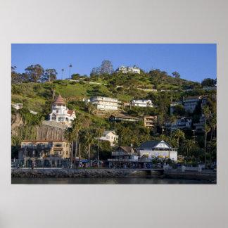 La ciudad de Avalon en la isla de Catalina, Póster