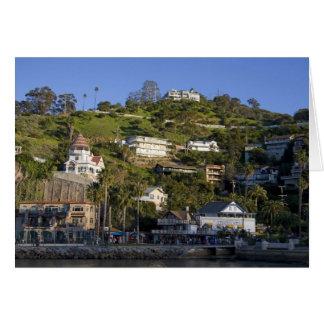 La ciudad de Avalon en la isla de Catalina, Tarjeta De Felicitación