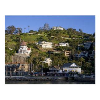 La ciudad de Avalon en la isla de Catalina Tarjeta Postal